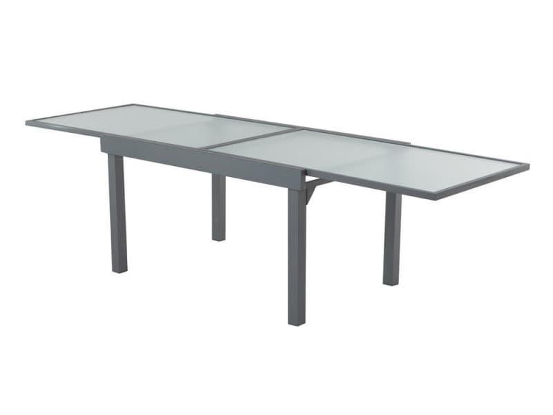 Extensible Table Jardin En Et Verre De Grise137270cm Aluminium PkZXui
