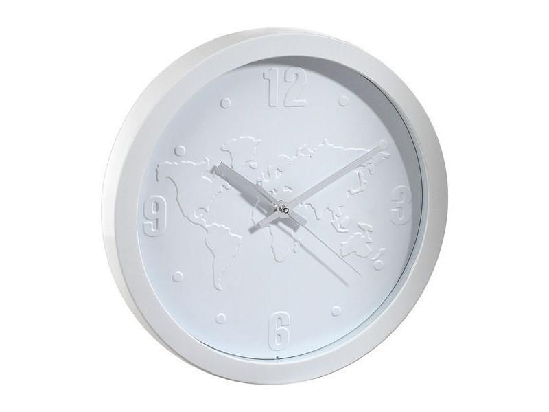 horloge pendule murale monde blanc vente de ego design conforama. Black Bedroom Furniture Sets. Home Design Ideas