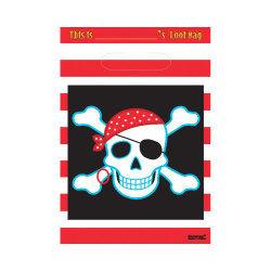 Sachets d'anniversaire : drapeau de pirates