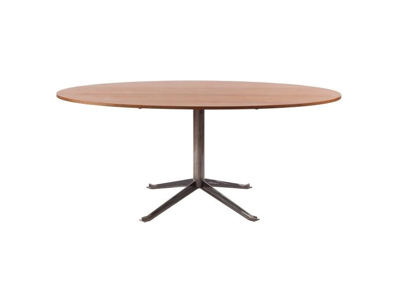 Table ovale bois et métal séverin