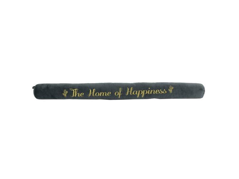Bas de porte en velours happiness - l. 78 cm - gris