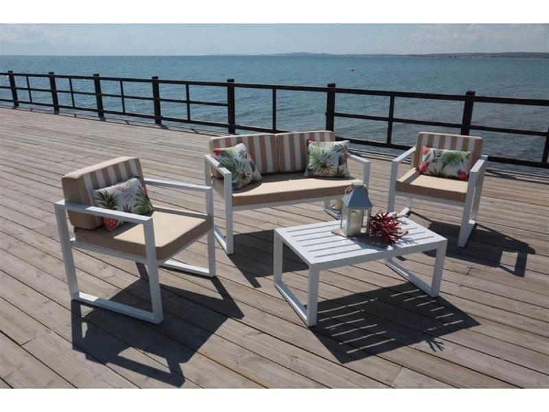 ensemble table et chaises de jardin aluminium parma 7. Black Bedroom Furniture Sets. Home Design Ideas