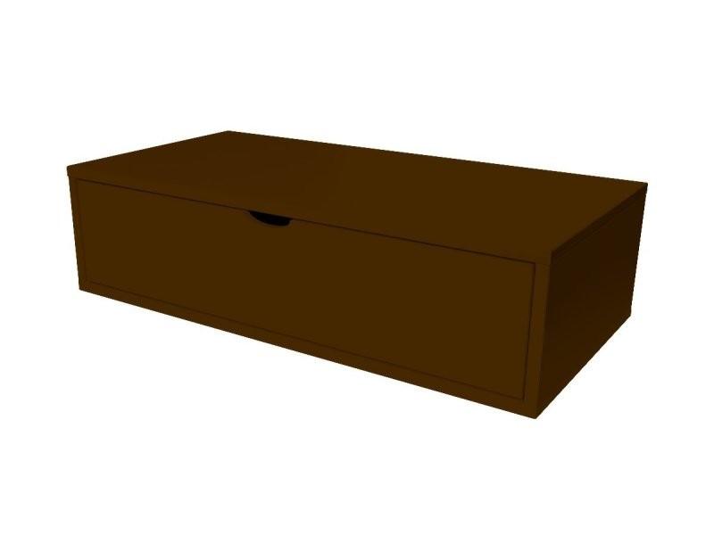 Cube de rangement bois 100x50 cm + tiroir wengé CUBE100T-W