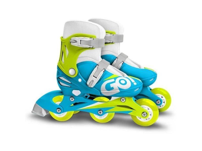 Roller in line patins en ligne 2 en 1 trois roues boy taille 27-30 skids control