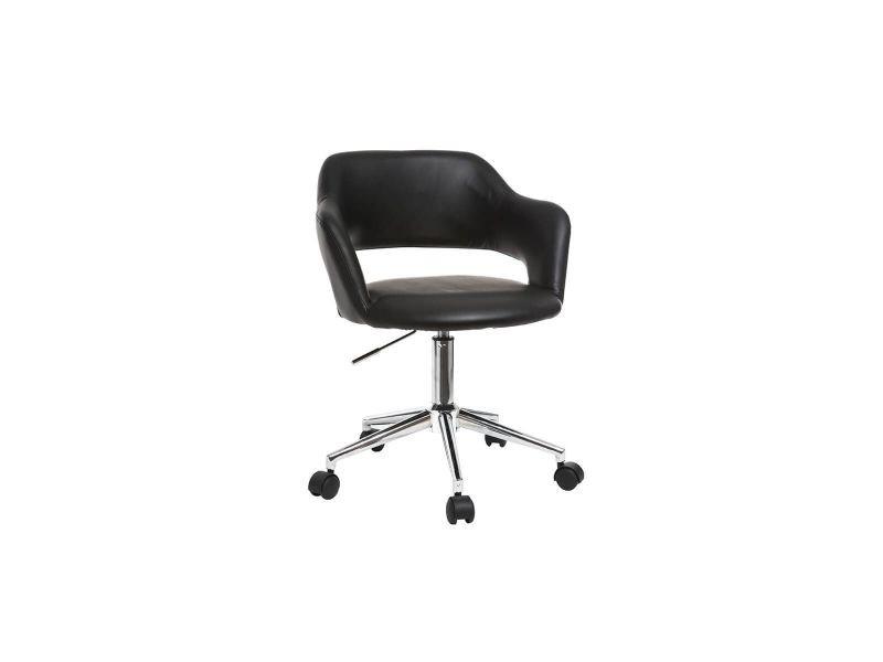 Fauteuil de bureau design noir jessy vente de fauteuil de bureau