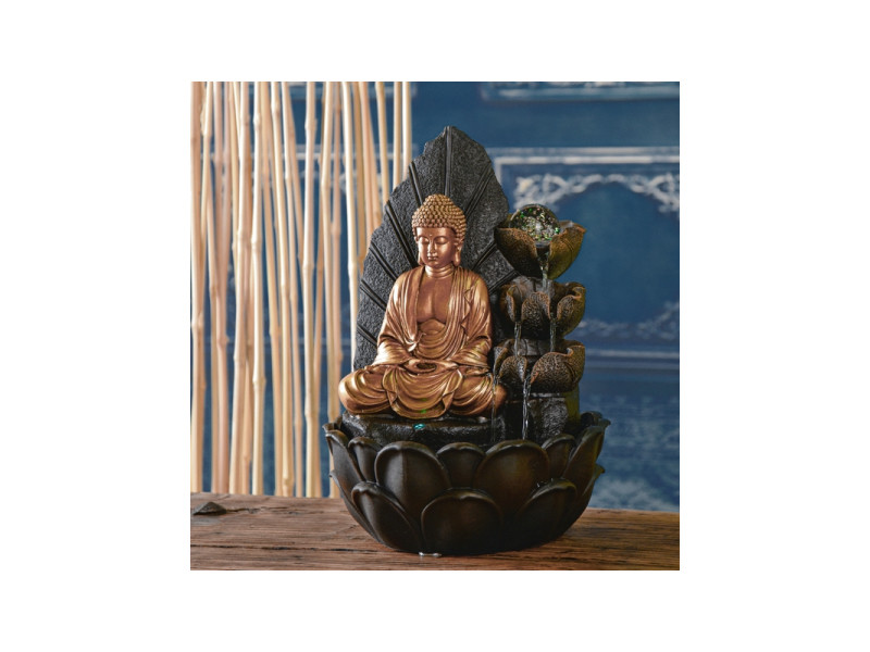 Fontaine bouddha hartha - l 27 x l 27 x h 40 cm - led