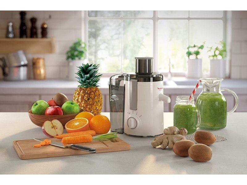 Centrifugeuse électrique pour fruits et légumes avec 2 vitesses 350w blanc