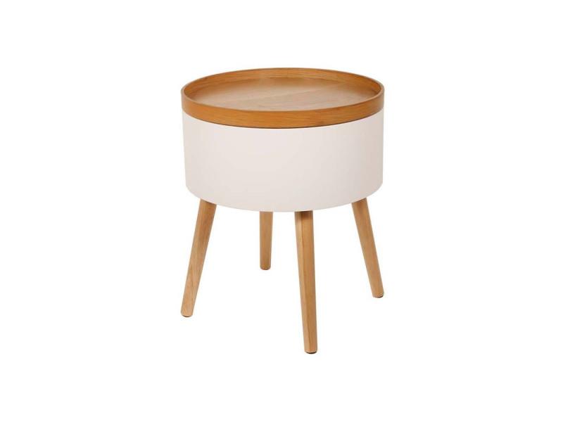 Table coffre plateau bois igor