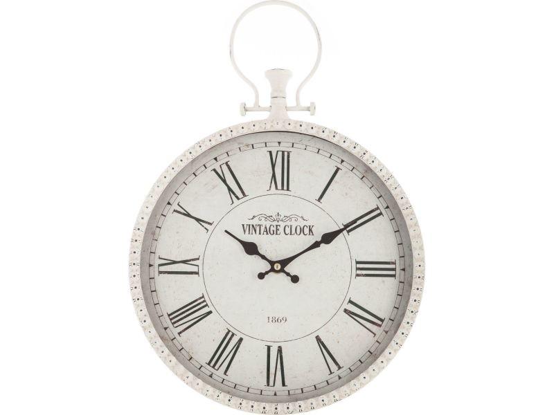 Pendule Murale Gousset Diam 30 Cm Blanc Vente De Horloge