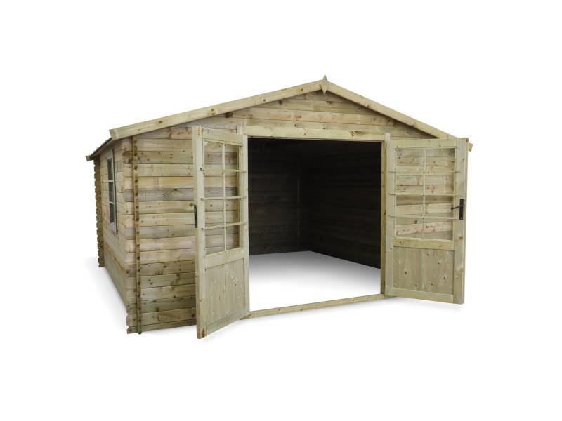 Abri de jardin 4x4m traité autoclave classe 3, meribel bois ...