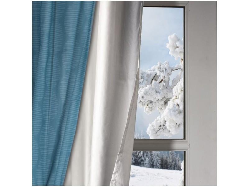 rideau de porte d entre isolant rideaux ruflette isolant thermique mirande gris pour tringle. Black Bedroom Furniture Sets. Home Design Ideas