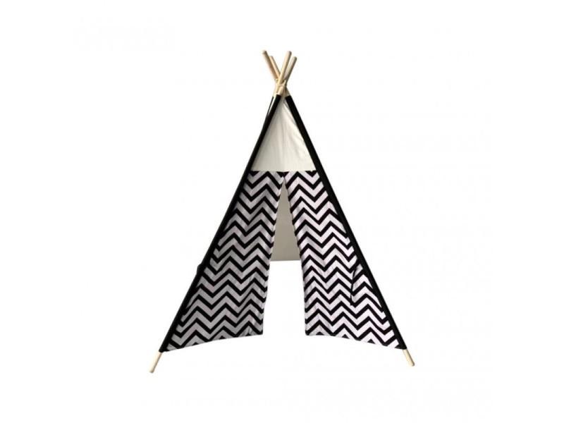 Rebecca mobili tente indienne jouet noir blanc coton bois moderne 145x120x120
