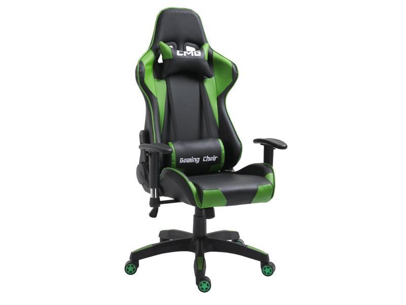 chaise de bureau gaming fauteuil ergonomique avec coussins si ge style racing racer gamer chair. Black Bedroom Furniture Sets. Home Design Ideas