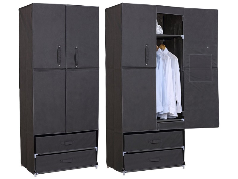 penderie avec housse en tissu maison design. Black Bedroom Furniture Sets. Home Design Ideas