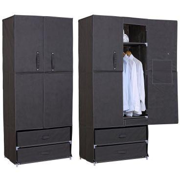 armoire penderie en tissu penderie dressing pliant. Black Bedroom Furniture Sets. Home Design Ideas