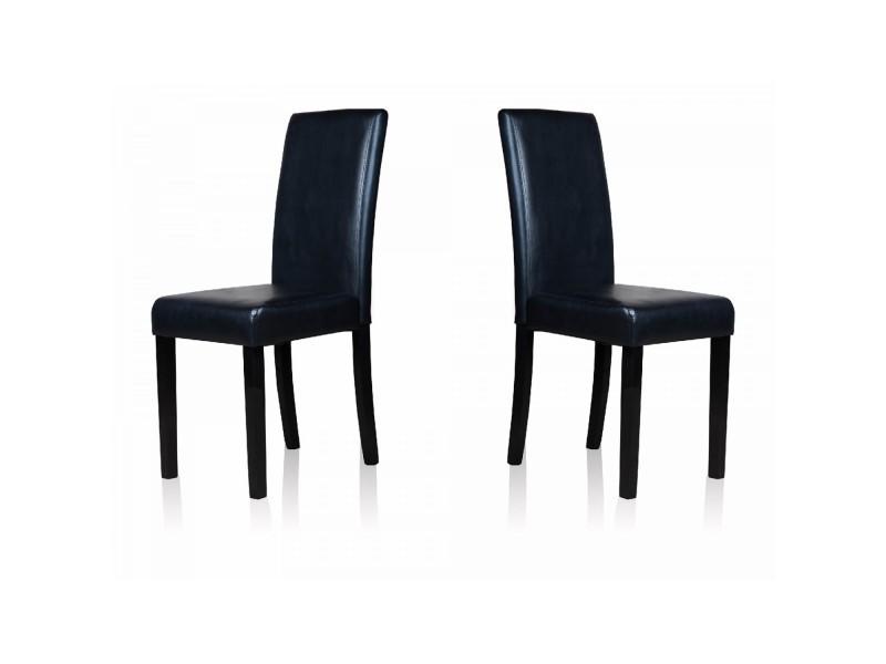 2 chaises anji noires vente de chaise conforama