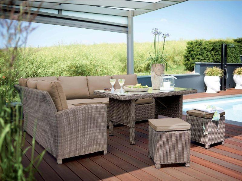 Kettler - salon de jardin en résine tressée marbella - Vente de ...