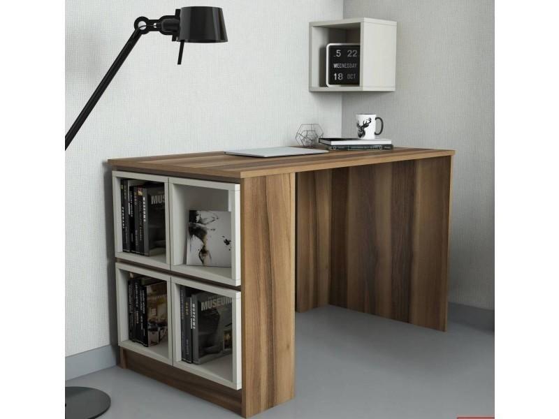 Bureau design fonctionnel avec cube box creme 120x65x75 vente de