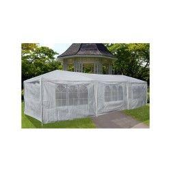 Tente de jardin pergola 3x6m toile blanche barnum tonnelle chapiteau réception