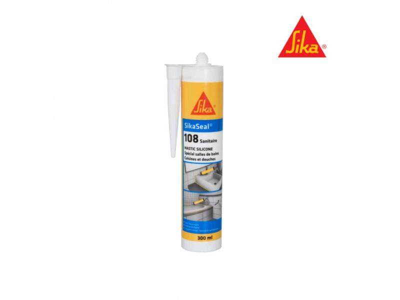 Mastic silicone anti-moisissure sika sikaseal 108 sanitaire - blanc - 300ml 524946