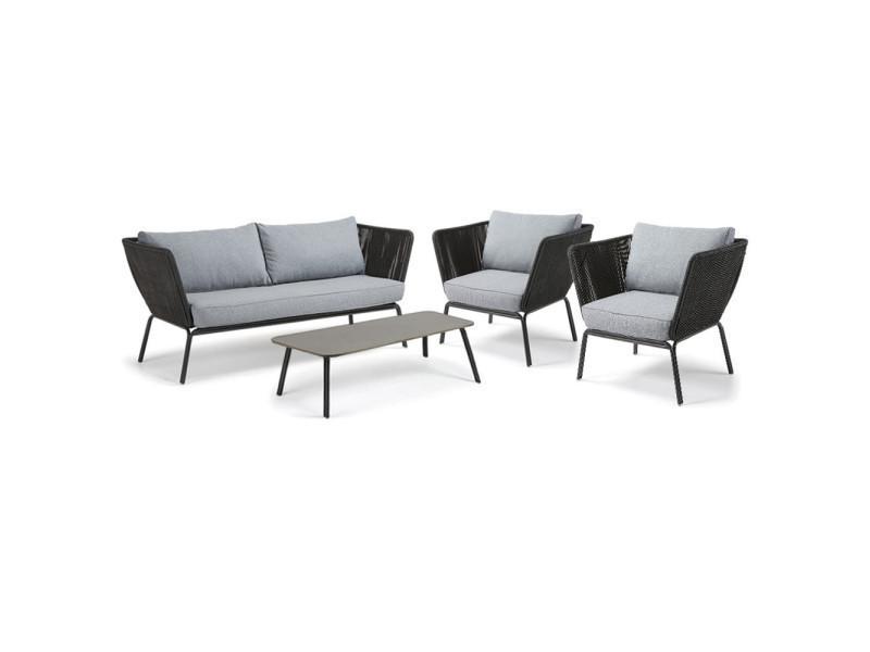 Salon de jardin lounge vernon - couleur - gris anthracite - Vente ...