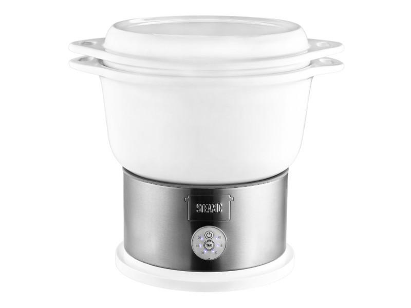 Kalorik tkgdg1002 cuiseur vapeur ceramique - 700 w - bol en ceramique - blanc KAL5413346340382
