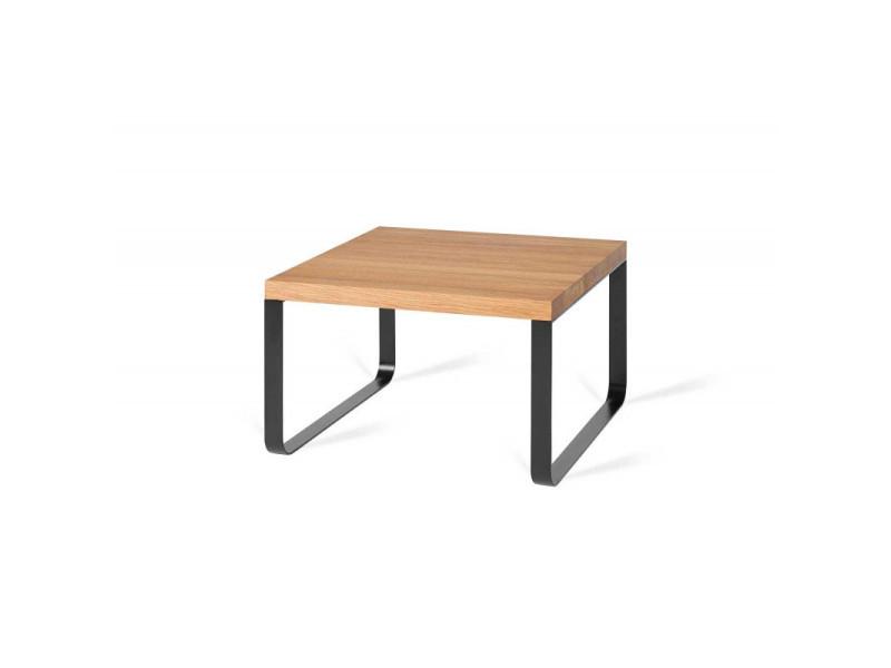 Table basse industrielle métal et bois massif camelia / coloris : chêne