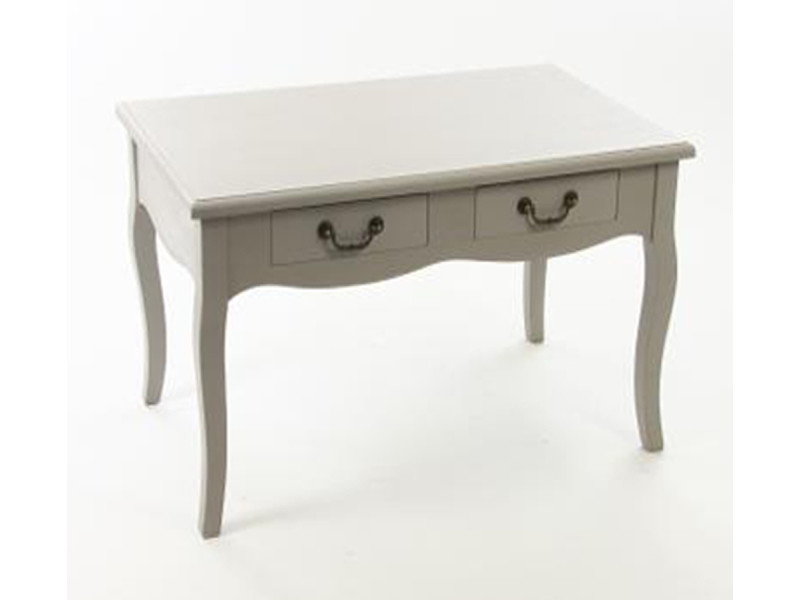 Table basse kevin taupe, l80 x p44 x h48 cm -pegane-