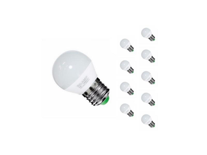 Ampoule e27 led 6w 220v g50 220° (pack de 10) - blanc chaud 2300k - 3500k
