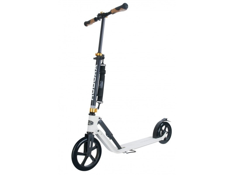 Hudora trottinette big wheel style 230 - blanc