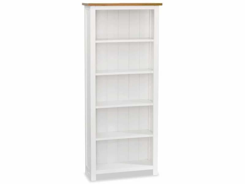 Étagère armoire meuble design bibliothèque 140 cm bois de chêne massif helloshop26 2702060/2