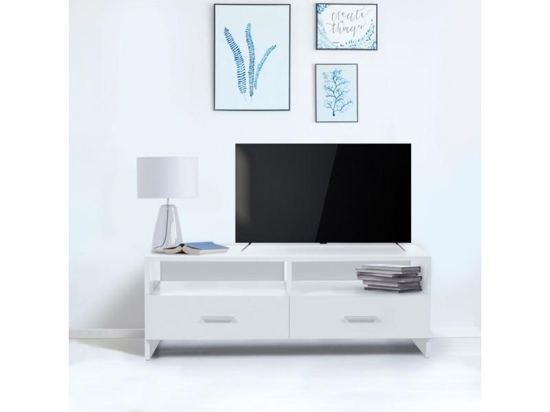 meuble tv falko bois blanc vente de id market conforama. Black Bedroom Furniture Sets. Home Design Ideas