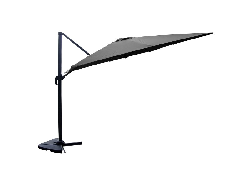 Cesare - parasol déporté 3x4m gris