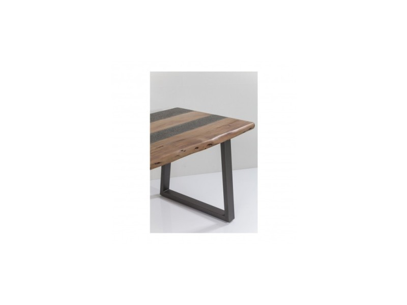 Table à manger effet béton et bois tarrazo - Vente de Table - Conforama 467867c7016b