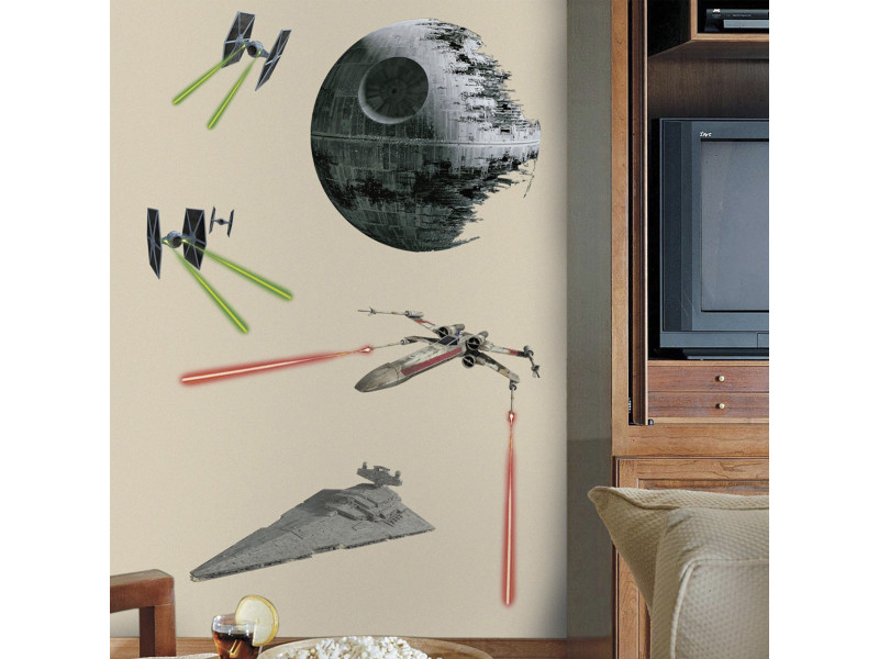 17 stickers vaisseaux empire et rebel star wars