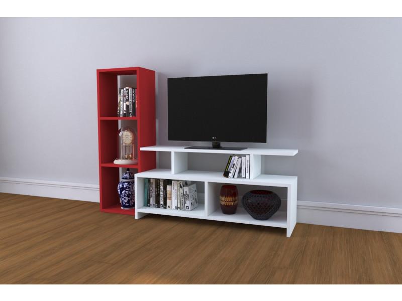 Meuble tv design cinar rouge