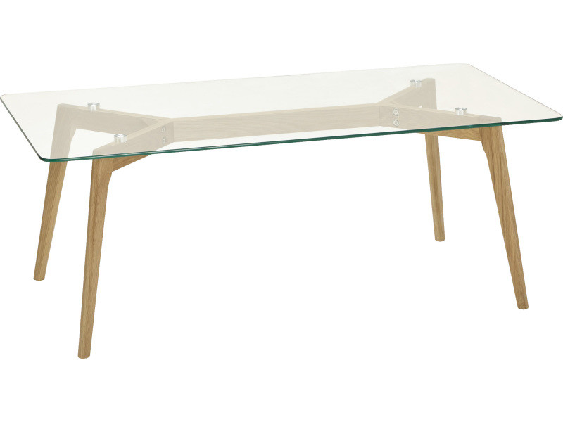 table basse scandinave en verre 60 x 120 x 46 5 cm pegane