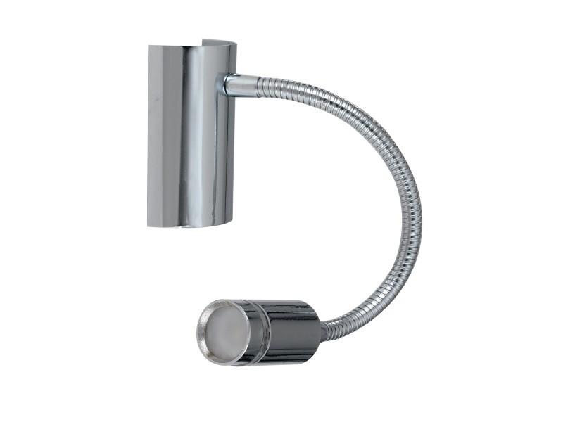 Applique liseuse led flexible kepler argentée en métal