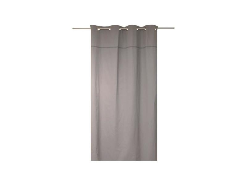 Soleil d\'ocre rideau a oeillets dentelle 100% coton 140x240 cm gris ...