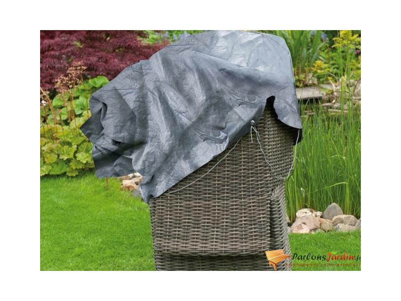 Housse de protection pour 2 fauteuils de jardin empilés