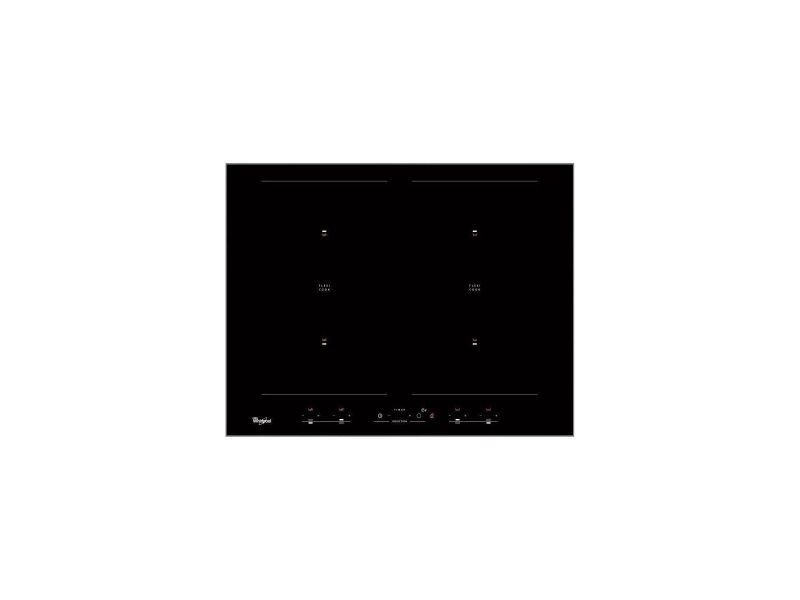 Whirlpool acm 829 ne - table de cuisson induction - 4 zones - 7200 w - l 58 x p 51 cm - revetement verre - noir TOU8003437831416