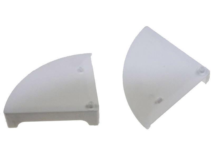 Embout de visiere gauche et droit blanc reference : z00sp014400b
