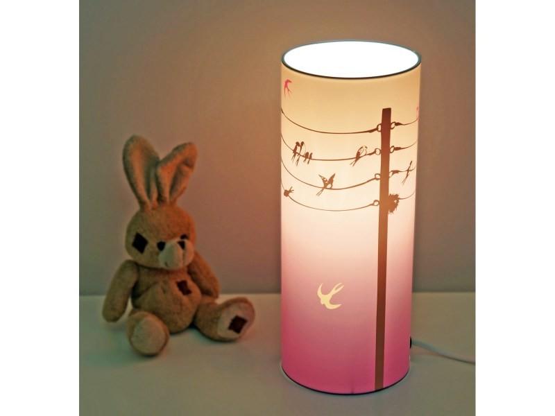 lampe de chevet enfant hirondelles vente de r et m coudert conforama. Black Bedroom Furniture Sets. Home Design Ideas