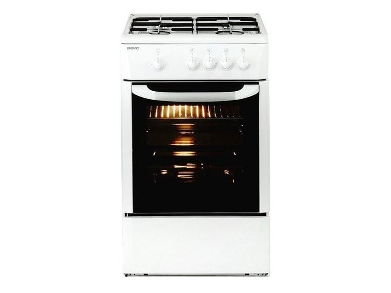 Cuisinière à gaz avec four 9500w 60 cm blanc - cuisiniere complete