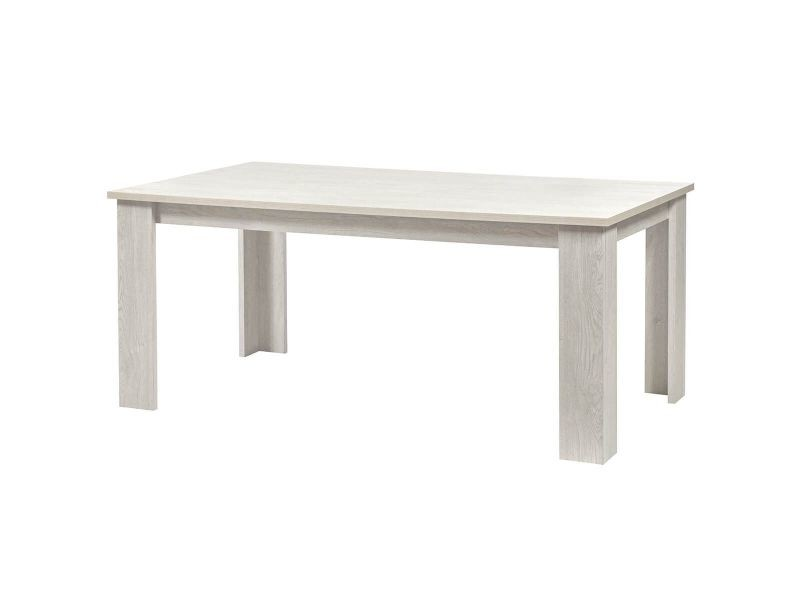 Galaad - table rectangulaire 180cm effet chêne blanchi