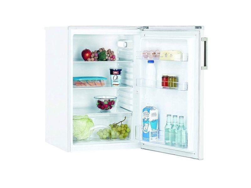 candy r frig rateur frigo simple porte table top blanc 125l a froid statique eclairage led. Black Bedroom Furniture Sets. Home Design Ideas