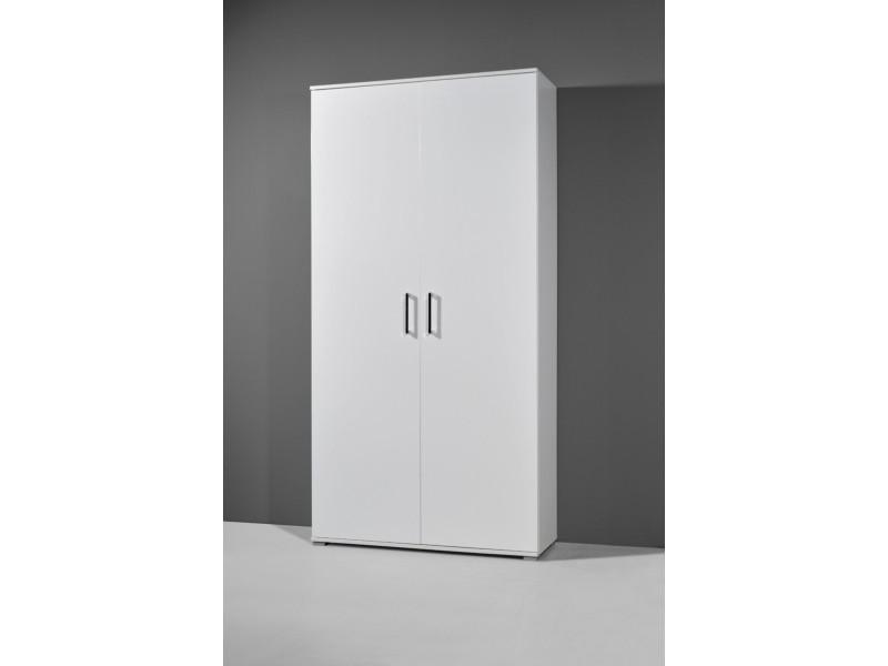 meuble chaussures blanc avec 2 portes et 7 tagres dimensions 100 x 197 x 37 cm vente de meuble chaussures conforama