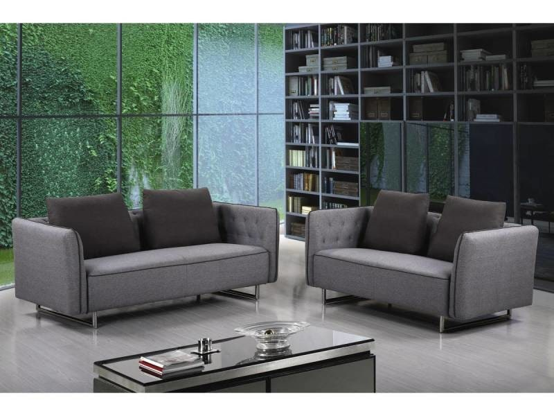 canap tissu biarritz 2 places gris vente de habitat et jardin conforama. Black Bedroom Furniture Sets. Home Design Ideas