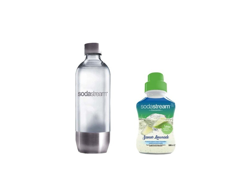 Pack sodastream bouteille base métal pet 1l - concentré limonade 500 ml 3000082-30031900