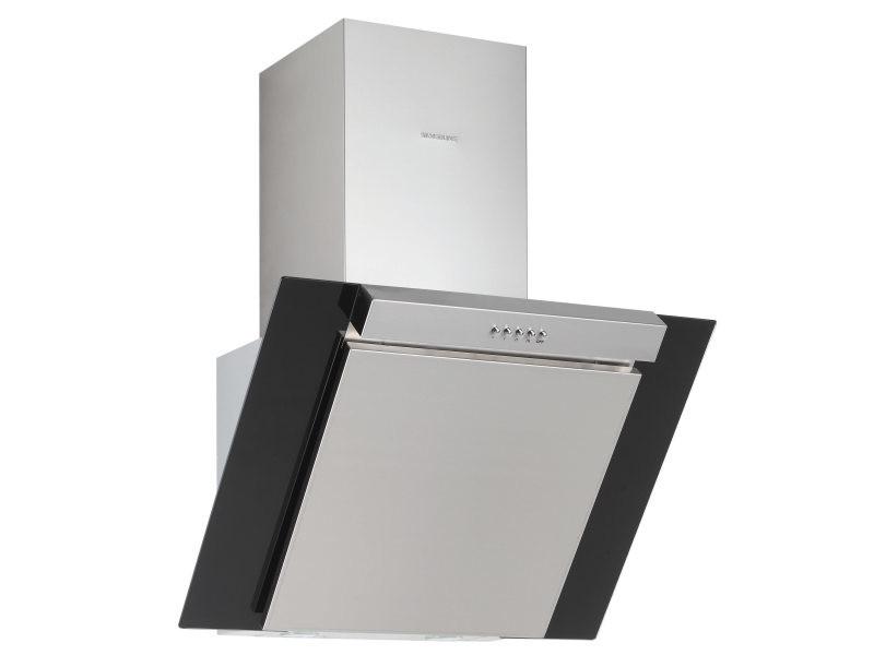 Hotte décorative 550m³/h silver 90cm c, h 20590 015